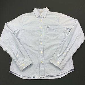 Abercrombie Fitch Shirt Button Down Muscle Blue